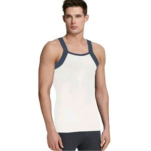 Other - Navy & White Ribbed Men's Tank Top Sz 3XL FREE!